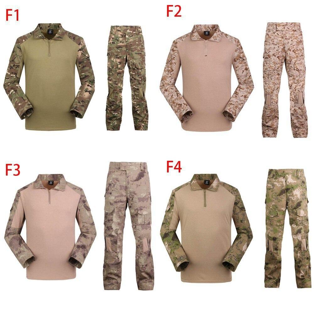 Camuflaje táctico militar paintball ejército combate conjuntos pantalones multicam con Frogman 4 colores ropa militar abbigliamento softair - 5