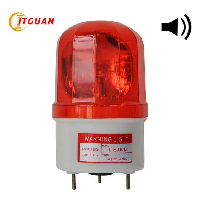LTE-1101J warning light DC/AC12V-380V Bulbs Rotary Warning Lamp with Sound Visual Alarm Indicator Emergency Strobe Light
