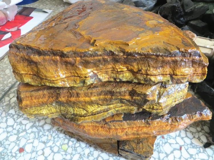 Gros naturel jaune oeil de tigre minerai pierre brute point minerai énergie minérale spécimens 1000 g/lot
