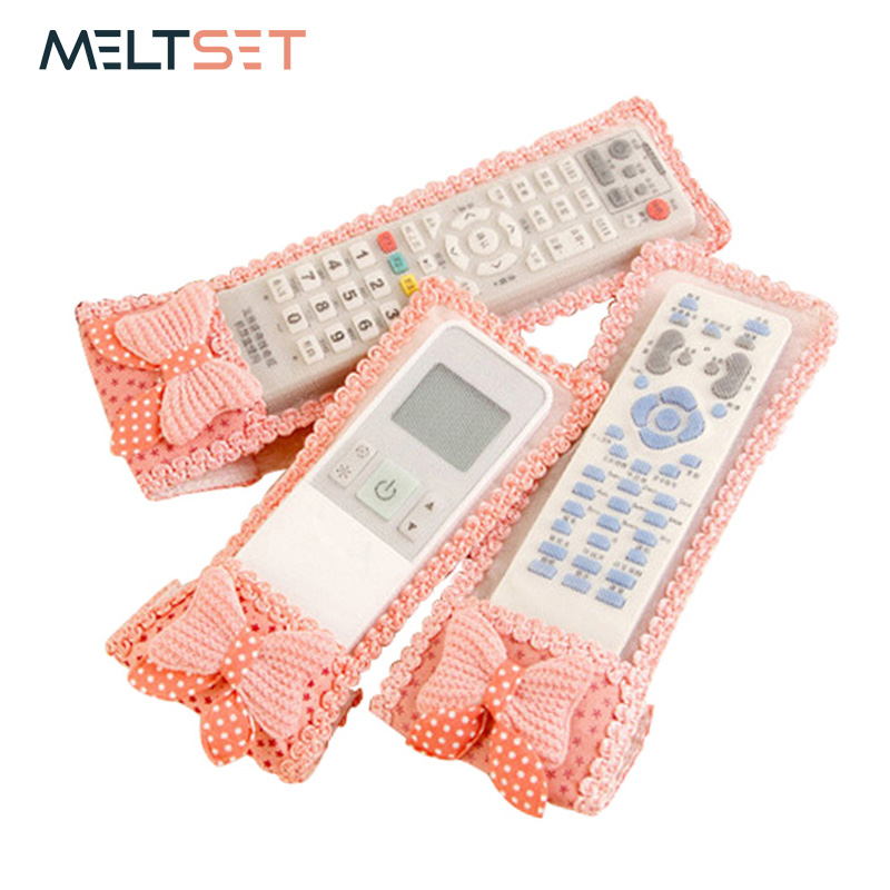 Remote Control Case Cover Cotton Dustproof TV Remotoe Control Bag Transparent Air Conditioner Cover Dust Protect Storage Bag