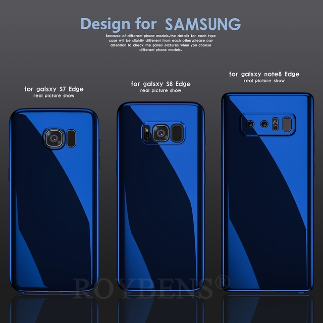 Roybens For Galaxy Note 8 Case Luxury Mirror 360 Ultra Thin Full Protection Case For Samsung Galaxy S8 Plus S7 Edge S9 S9+ Cover 5