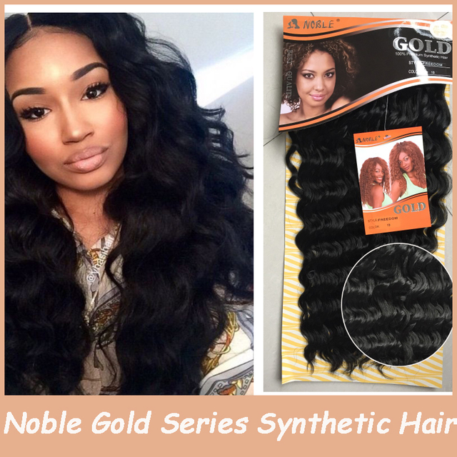 High Quality Hair Extension Noble Gold Afro Synthetic Hairpiece Long