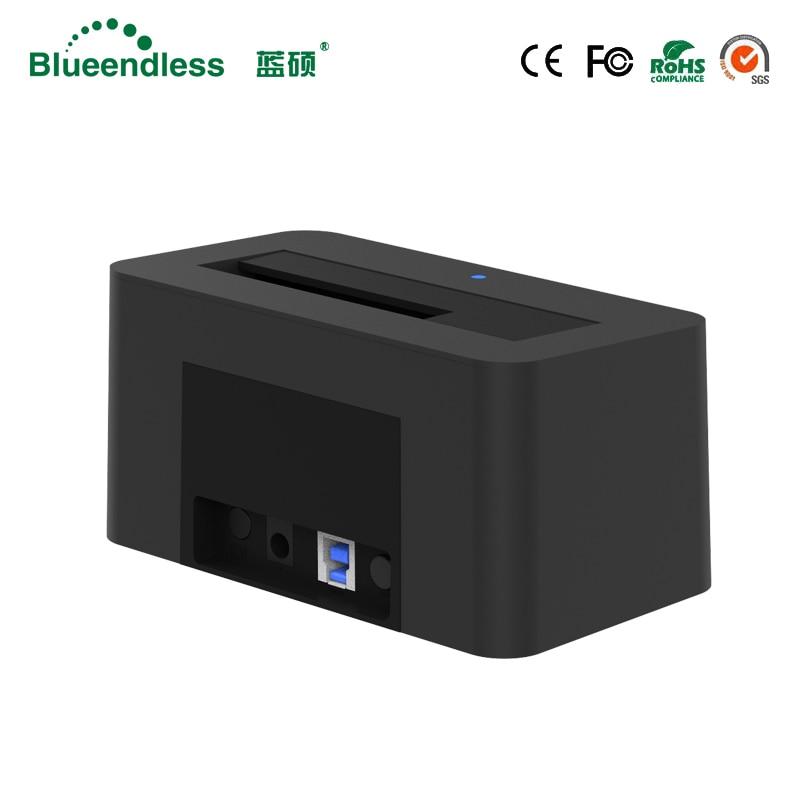 1-baie USB 3.0 à SATA3 jusqu'à 6 to Hdd Station d'accueil soutien 2.5 ''3.5'' pouces HDD avec 5 Gbps haute vitesse DC12V/2A alimentation