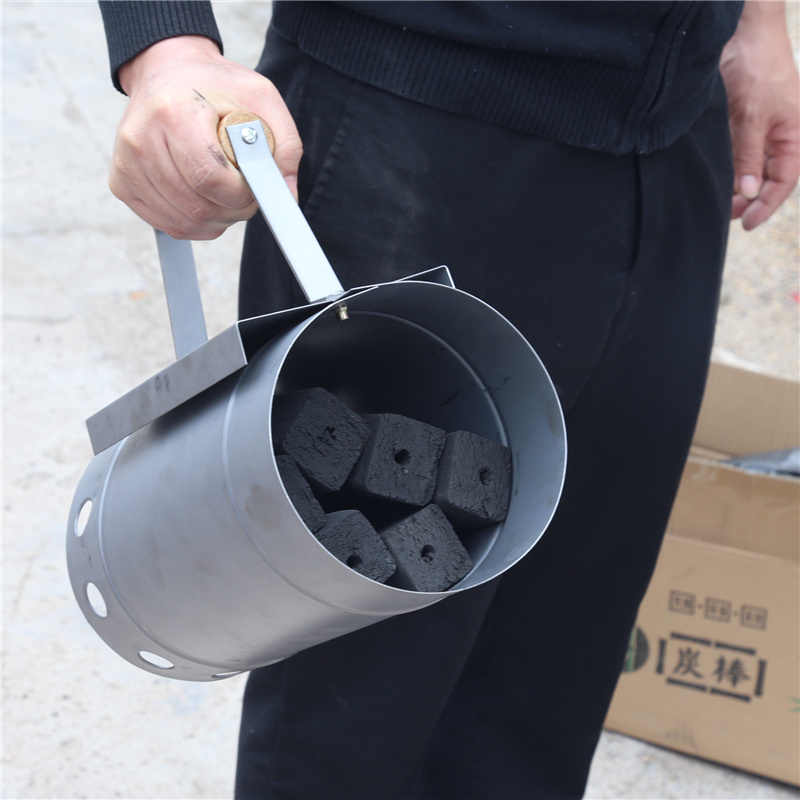 Barbecue tools Fast point charcoal ignition barrels carbon  stove ignition outdoor barbecue tools bamboo Chimney Starter