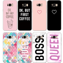 Heart Printed Case For Samsung Galaxy S8 S9 S10 Plus J3 J5 J7 Prime A30 A50 A70 A3 A5 A6 A8 2016 2017 2018 Note 8 9 Queen Cover(China)