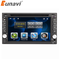 Eunavi universal Car Radio Double 2 din Car DVD Player GPS Navigation In dash 2din Car PC Stereo Head Unit video Free Map camera