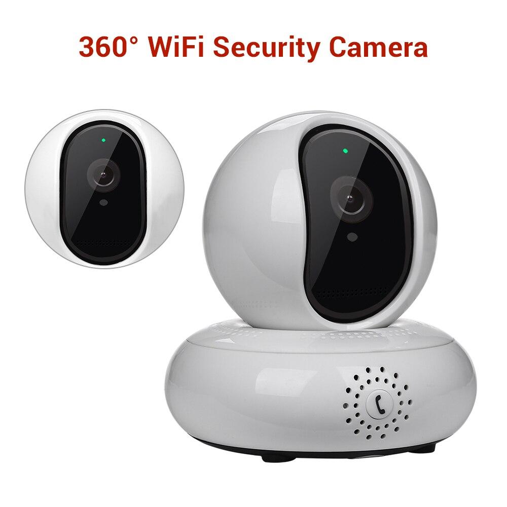 Caméra IP sans fil WiFi avec œil de poisson HD 1080 P sécurité vidéo panoramique 360 degrés Webcam interphone maison moniteur bébé ipcam extérieur