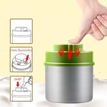 Vacuum Sealed  Container Stainless Steel Food Storage Bottle Jars for Coffee Bean Canister without Pump