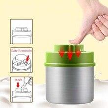 Vakum mühürlü konteyner paslanmaz çelik gıda depolama şişesi kavanoz kahve çekirdeği mutfak aksesuarları büyük kapasiteli