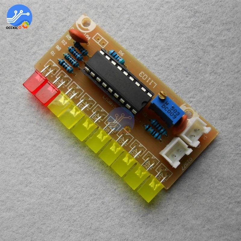 LM3915 10 LED Level Indicating Audio Sound Spectrum Analyzer Level Indicator DIY Suite Amplifier Electoronics Kit