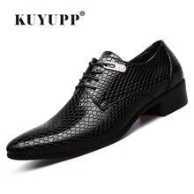 KUYUPP/новинка 2016 года Мужские кожаные туфли на плоской подошве повседневная плед на плоской подошве туфли-оксфорды на шнуровке Мужские модельные туфли с острыми носками Мужская обувь Y16