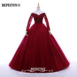 Новое поступление, бальное платье с v-образным вырезом, Длинные вечерние платья, элегантные вечерние платья с длинными рукавами, платья для ...