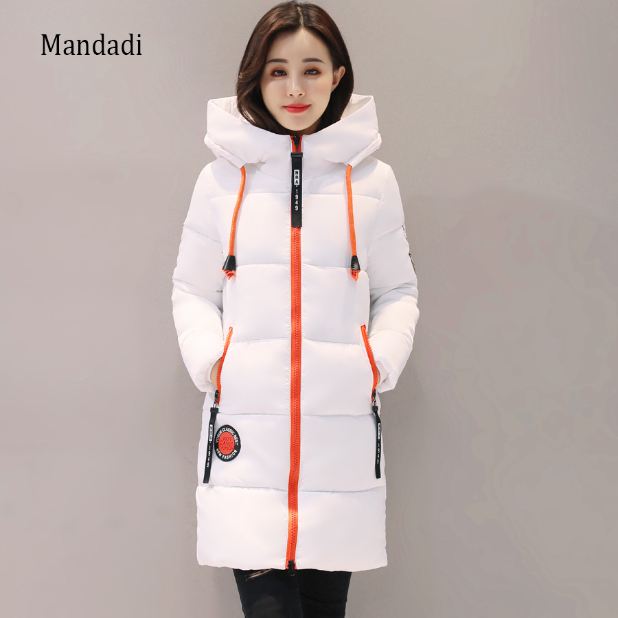 2017 Winter jacket women Thick Long Women Parkas  Hooded Female Outwear Coat Down Cotton Padded Snow Wear qimage women winter jacket coat 2017 long thick padded cotton jacket female hooded warm down outwear silm parkas womens clothing