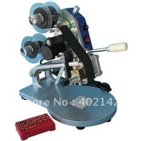 Free Shipping Manual Hand Operated Hot Stamp Printer Coding Machine DY 8 Numbers Letters Ribbon