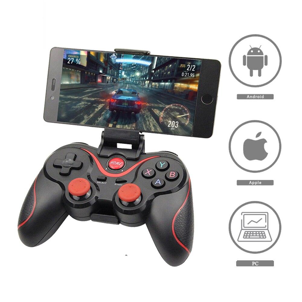 Venta al por mayor Terios T3 X3 inalámbrico Joystick Gamepad del regulador del juego de bluetooth BT3.0 Joystick para la tableta del teléfono móvil de la caja de TV titular