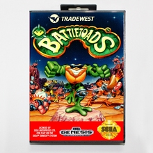 Battletoads 16 bit MD card with Retail box for Sega MegaDrive Video Game console system