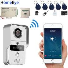 720P беспроводной видеодомофон IP Wifi дверной телефон умный дверной звонок дистанционный разблокировка водонепроницаемый детектор движения PIR RFID карта 8G карта