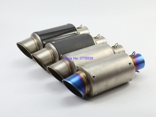 Inlet 2 inch Universal Motorcycle Motorbike Exhaust Muffler Pipe Escape Tailpipe with Removable DB Killer Stainless Steel
