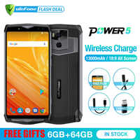 Ulefone Power 5 13000mAh 4G Smartphone 6.0 FHD MTK6763 Octa Core Android 8.1 6GB+64GB 21MP Wireless charge Fingprint Face ID