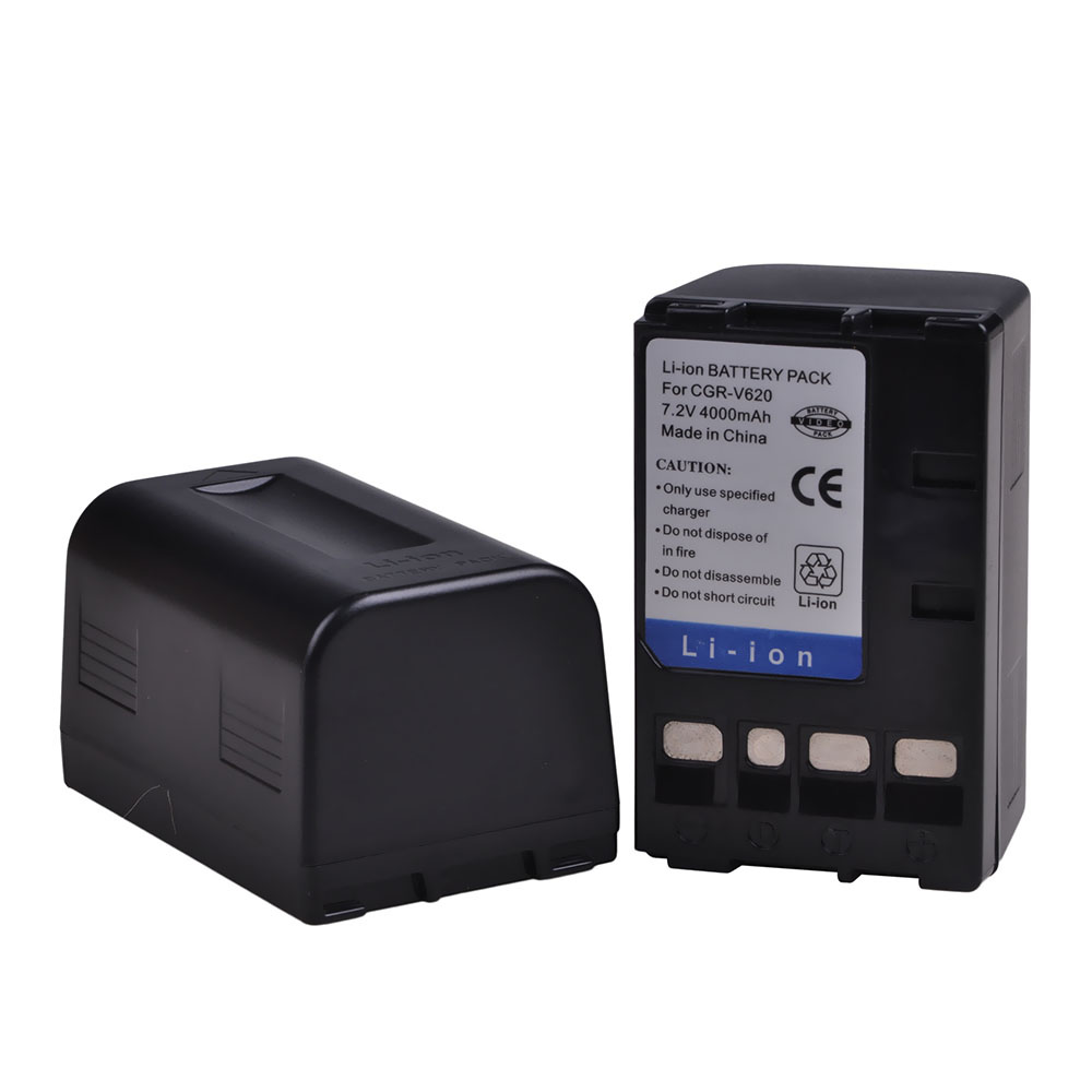 2x 4000mAh PowerTrust CGR-V620 CGR-V14S CGR-V610 CGR-V26S Battery for Panasonic V610 V620 NV-RX14 NV-RX17 NV-<font><b>RX18</b></font> NV-RX24 Camera image