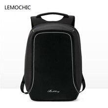 Lemochic New дугообразная сумка деловая softback компьютер рюкзак Simple Mochila ноутбук Горячая распродажа! путешествия водонепроницаемый мужчины сумка