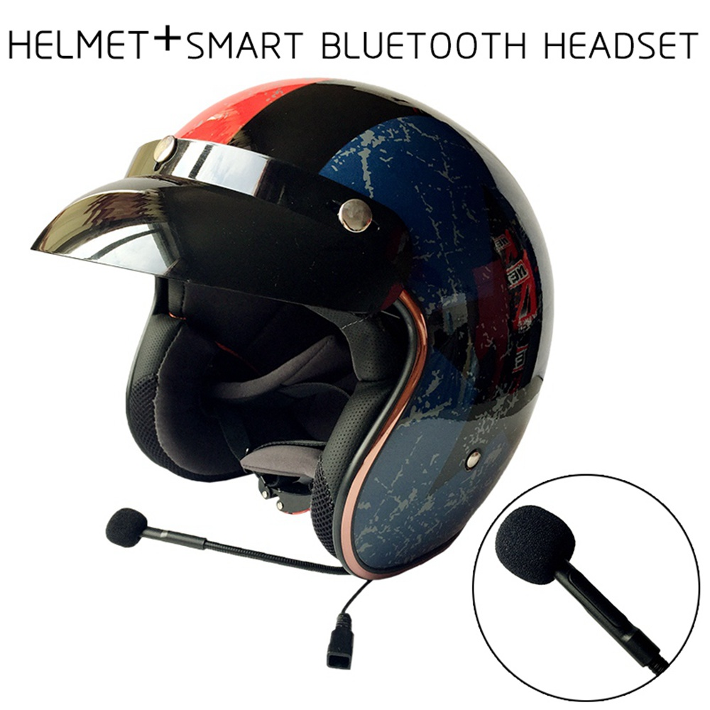 built in bluetooth motorcycle helmet harley retro helmet. Black Bedroom Furniture Sets. Home Design Ideas