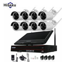 10 Inch Displayer 4CH 720P 960P Wireless CCTV System Wireless NVR IP Camera IR CUT Bullet