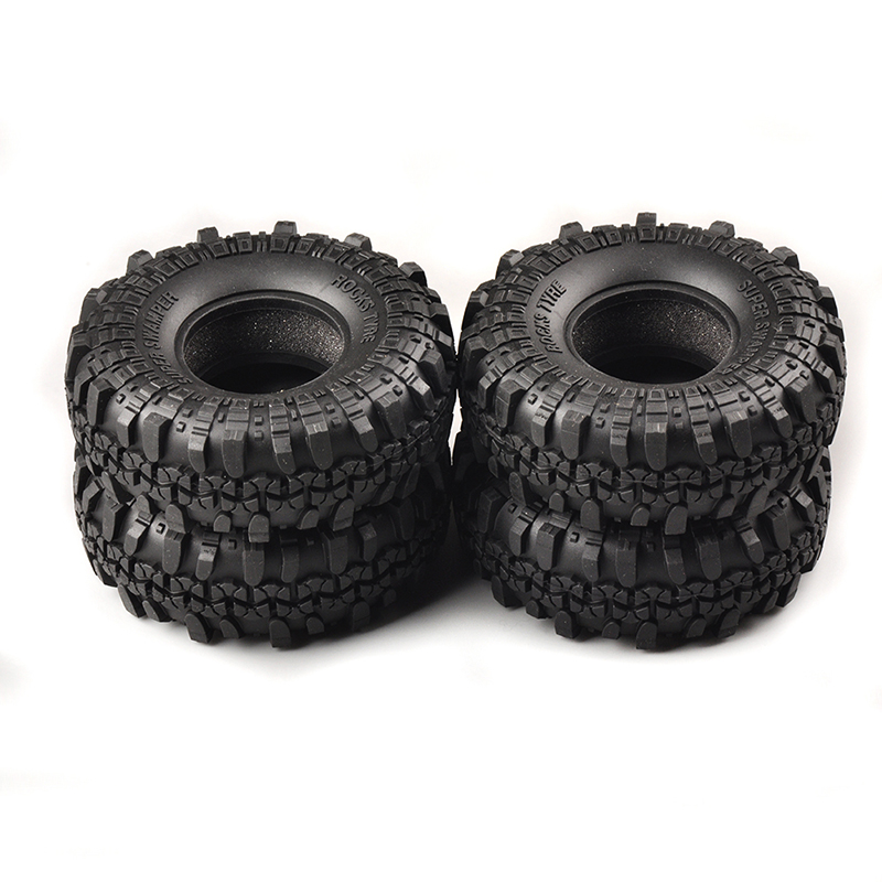 1/10 Scale RC Model Rock Crawler Car Truck Rubber Foam Tire Tyre 4PCS 4pcs rc crawler truck 1 9 inch rubber tires