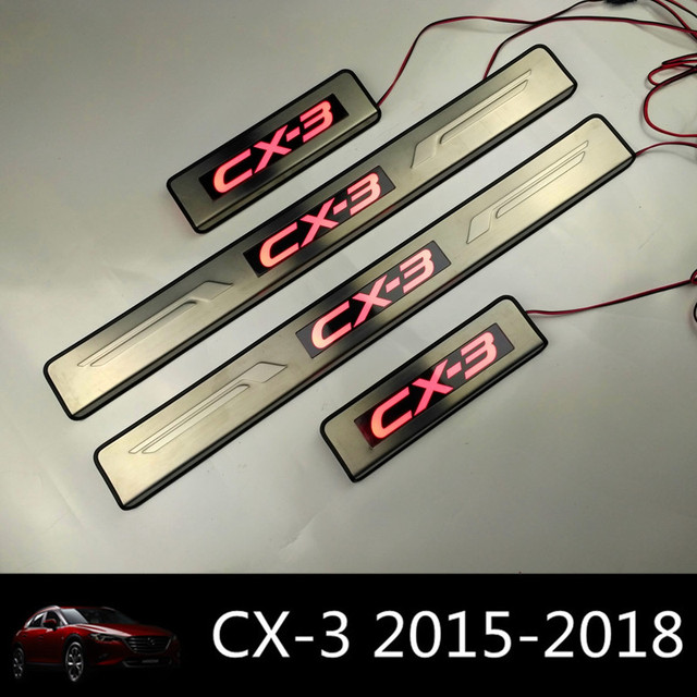 Led Light Door Sills For Mazda Cx 3 2018 Stainless Steel Car Door