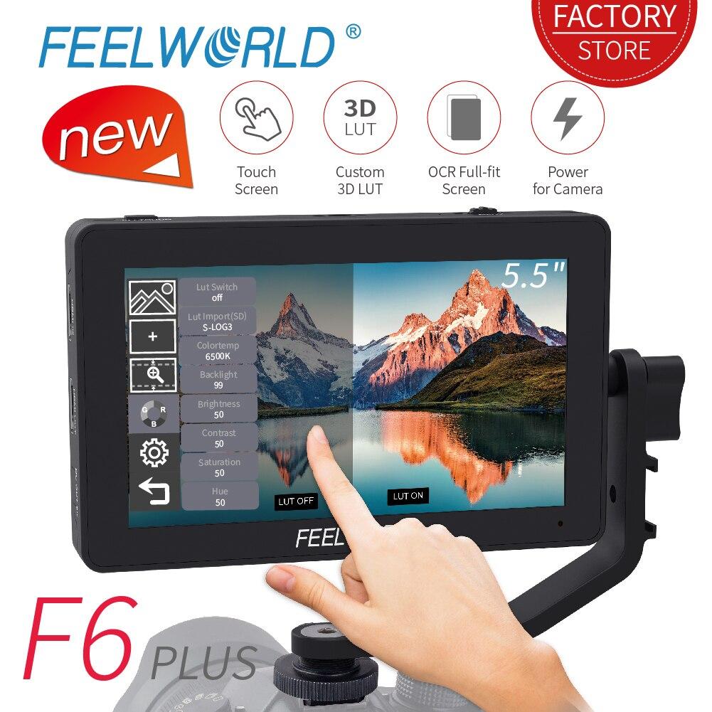 FEELWORLD F6 PLUS 5,5 zoll 3D LUT Touchscreen 4 K HDMI Monitor Full HD 1920x1080 IPS DSLR kamera Feld Monitor für Kameras Nikon-in Monitor aus Verbraucherelektronik bei  Gruppe 1