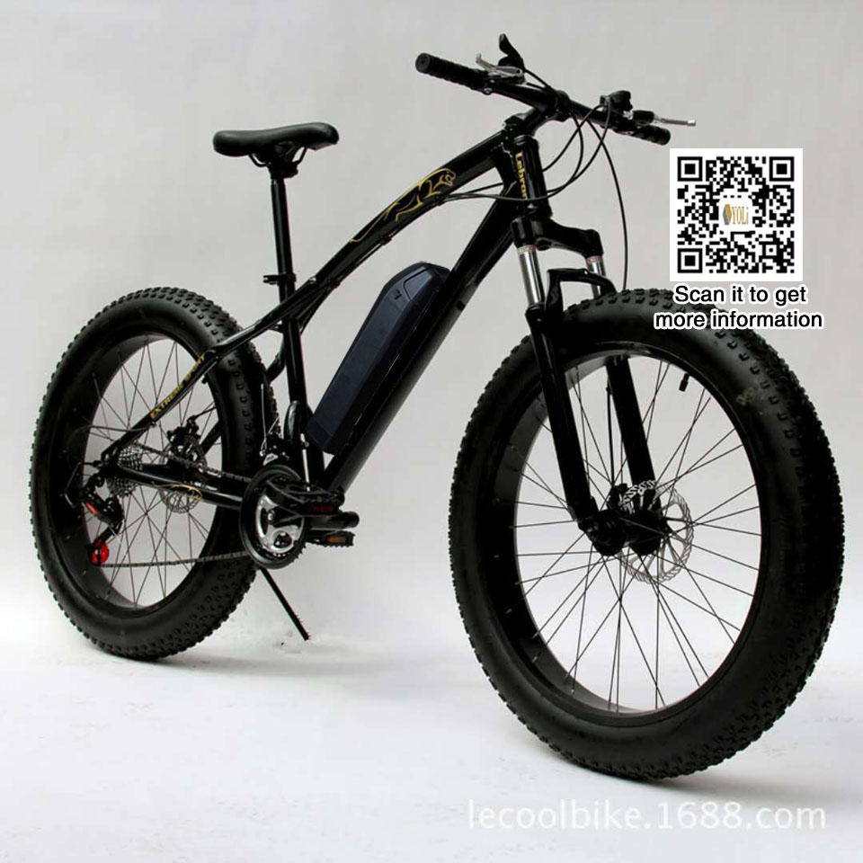 21 speed Mountain EBike Road Electric Bicycle 36 V 10.4AH fat tire snow bike