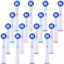 цены на 16 PCS Replacement Toothbrush Heads for Oral b Toothbrush Head Compatible with Vitality Dual Clean/Professional Care SmartSeries  в интернет-магазинах