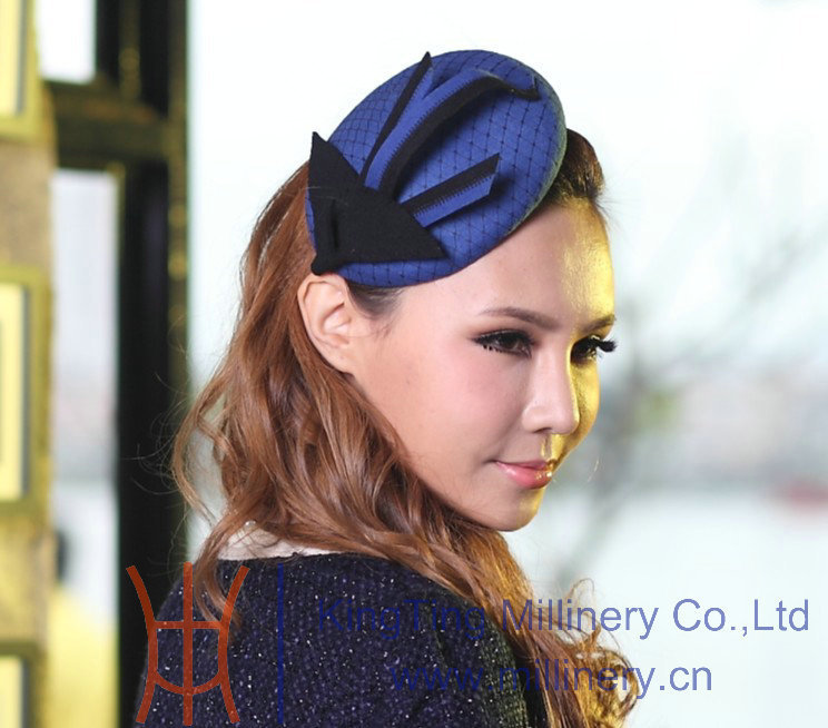 цены  Free Shipping Fashion Elegant  Beautiful Women Fascinator Blue Delicate Hair Accessories For Hair  Fascinator Hats Blue Hairband