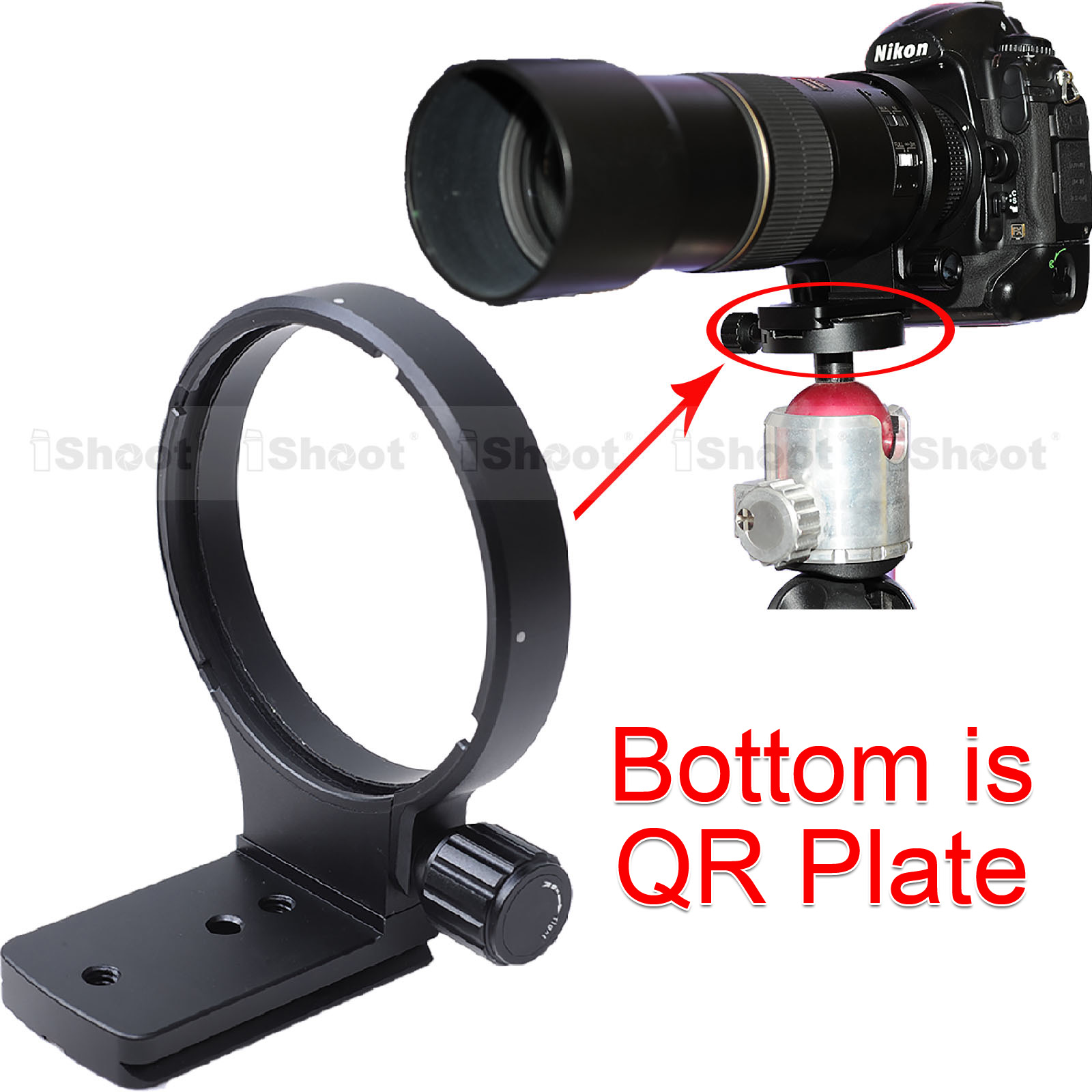 Lens Support Collar Tripod Mount Ring for Nikon AF 80 400mm f 4 5 5 6D