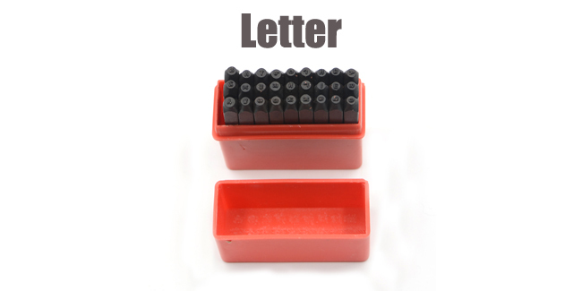 27 PC LETTER PUNCH SET STAMPING STAMP JEWELERS 1.5 MM