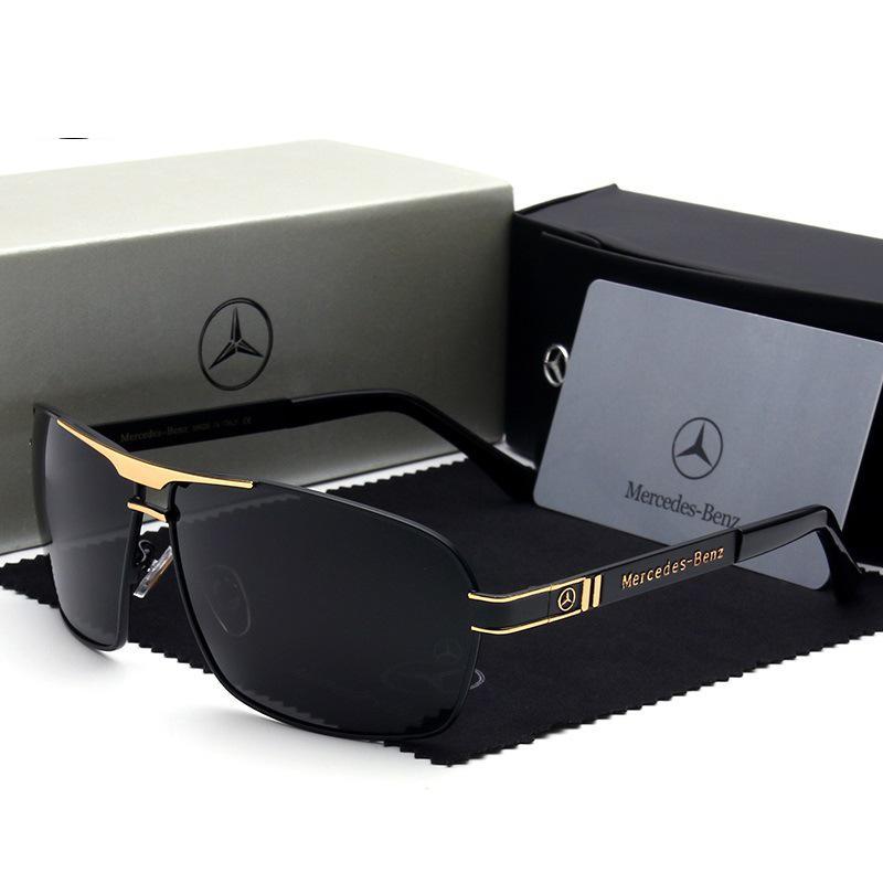 New Mercedes Benz Sunglasses Fashion Men's UV400 Sunglasses Driving Polarized Glasses Support Wholesale