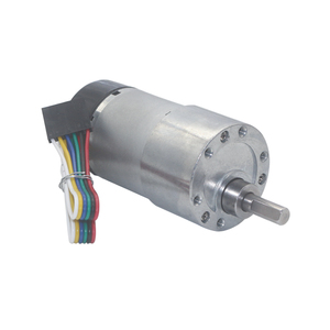 Image 4 - 12V 24VDC 7 1600RPM 37mm Gearbox High Torque Eccentric Shaft Gear Motor With Hall Encoder Geared Motors with protective cap