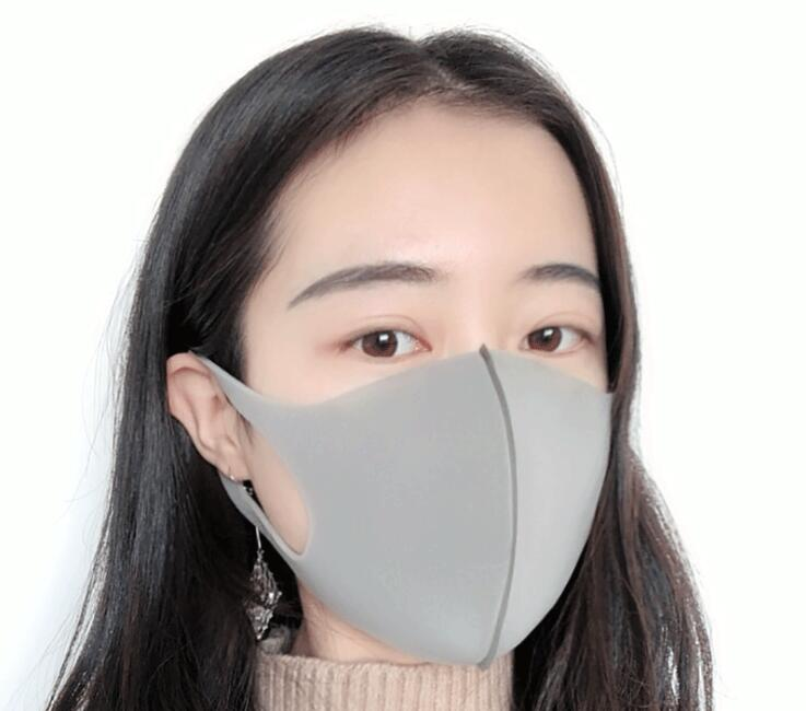 3 pcs Black Kpop Mouth Mask Breathable Unisex Sponge Face Mask Reusable Anti Pollution Face Shield Wind Proof Mouth Cover M40 in Masks from Beauty Health