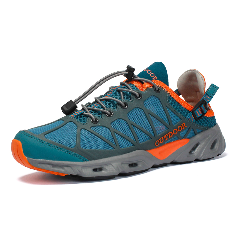 Outdoor Men's Hiking Shoes Breathable Mesh Quick Drying Sneakers For Men Trekking Wading Upstream Water Shoes