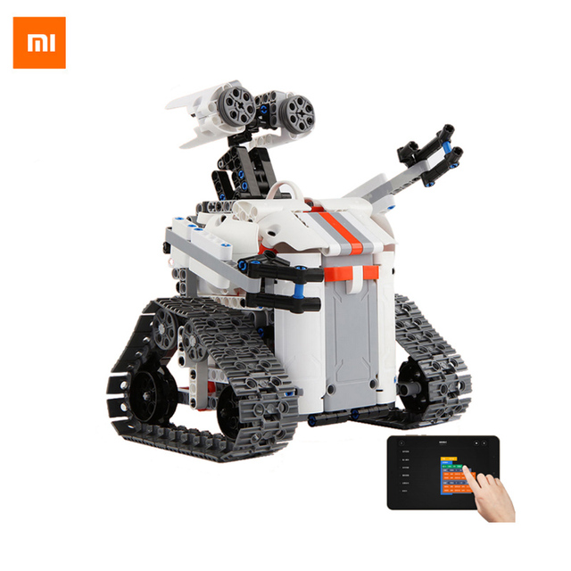 Xiaomi Mitu Smart Robot Tank Mecha Crawler Base Bluetooth Mobile Remote Control Mitu Building Blocks Robot Crawler Tank Version