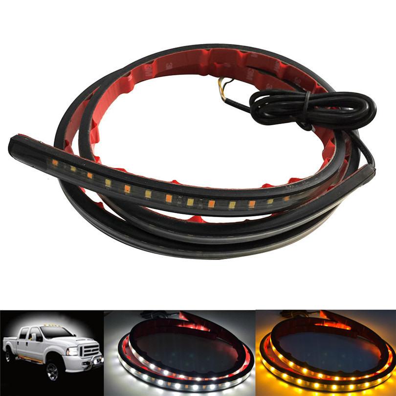 New 48Inches Amber White LED Truck Switchback Running Turn Signals Door Light Strips Car Styling Free
