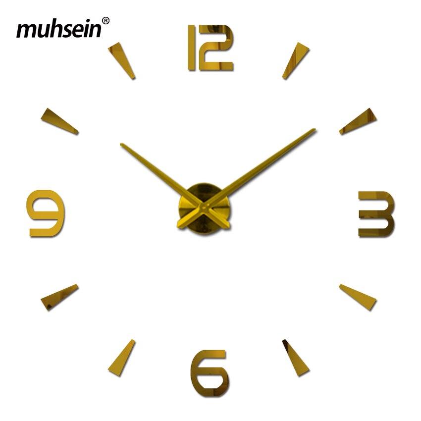 2019 relógio de parede relógio de quartzo reloj de pared muhsein sala de estar grande decorativa clocks modern horloge murale ainda vida adesivos