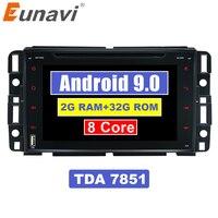Eunavi 2G + 32G автомобильный DVD GPS Navi для Chevrolet/Silverado/Tahoe/Monte GMC Yukon/Denali/Acadia 2 din автомобильный радиоприемник стерео BT wifi 8 ядер