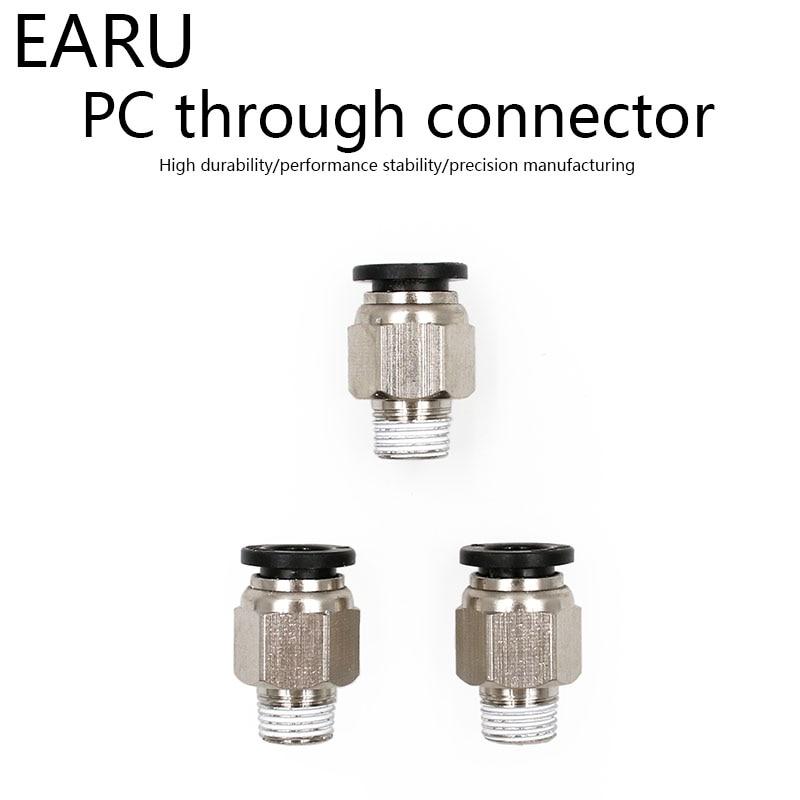 1/8 ''1/4'' 3/8 ''1/2'' Männlichen-4 6 8 10 12mm Gerade Push In Fitting Pneumatische Push Zu Verbinden Air Adapter Stecker Buchse Stecker
