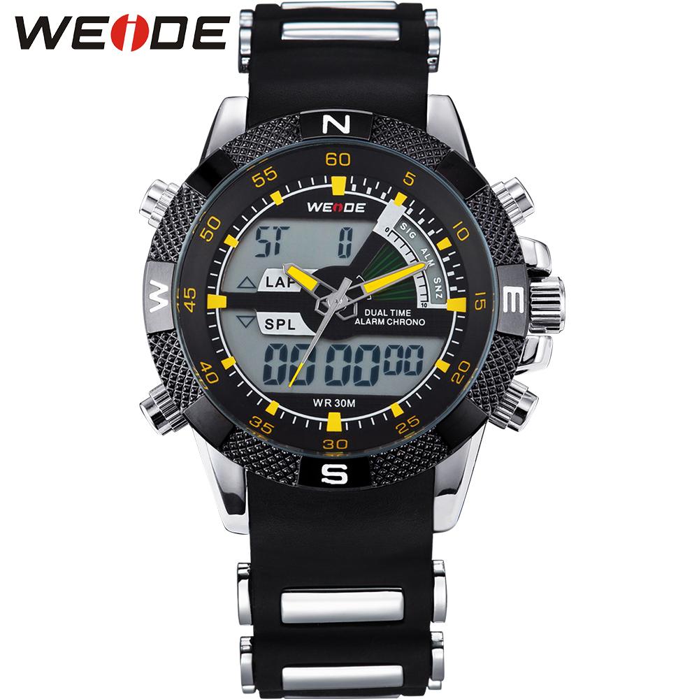 Prix pour Véritable WEIDE Montre D'origine Japon Quartz Analogique-Numérique Montre de Sport pour Hommes Mâle Étanche Horloge Relogio Masculino/WH1104