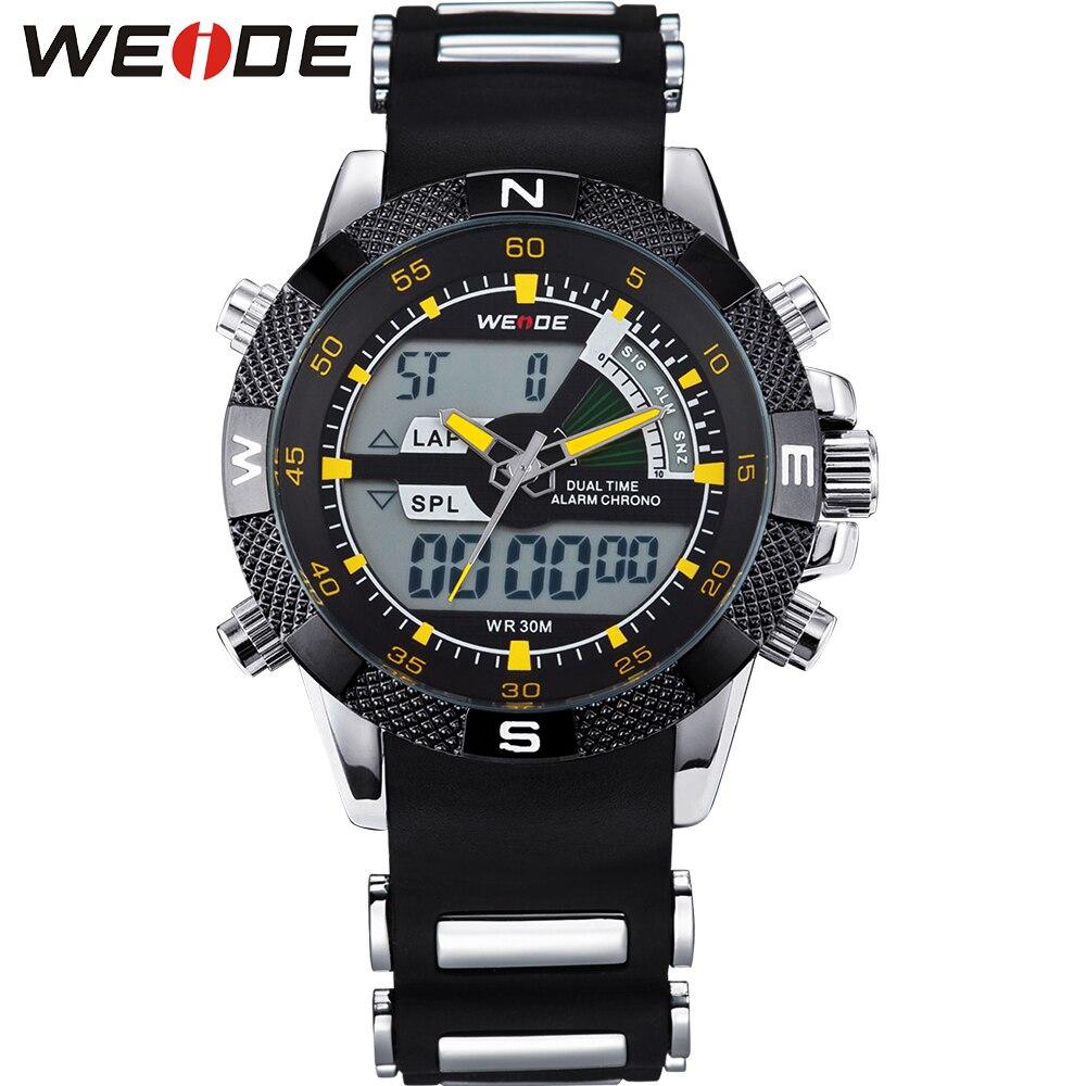 8beecc740786 Weide genuino reloj original del cuarzo de Japón analógico-digital del reloj  del deporte para los hombres impermeable Relogio masculino WH1104