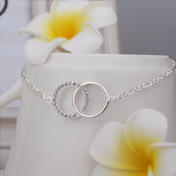 New Arrival Wholesale 925 Sterling Silver Anklets 925 Silver Fashion font b Jewelry b font Double