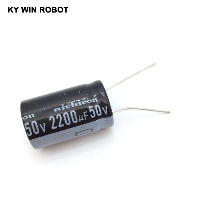 5pcs/lot 50V 2200UF 16 * 25mm Aluminum Electrolytic Capacitor