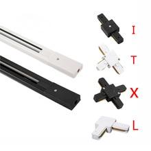 Track светильник ing 1 м алюминиевый соединитель рельсовой направляющей 1 м, светильник рельсовой направляющей с 2 проводами, алюминиевый рельсо...