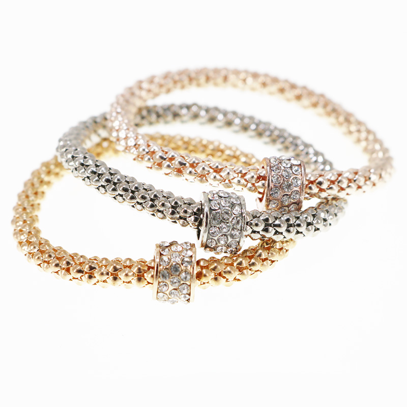 3PCS Carter Bracelets & Bangles Women Fashion Circle Crystal Bracelets for Women Elastic Charm Jewelry Pulseiras